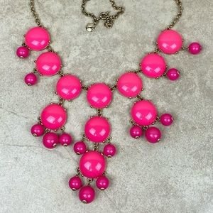 J. Crew pink bauble necklace
